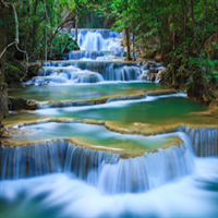 Full day minibus at disposal to Erawan Waterfalls from the Kwai Noi river Hotels