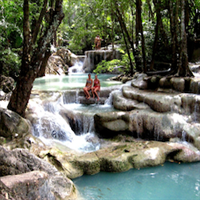 Private Erawan Waterfalls with lunch and guide from Kanchanaburi