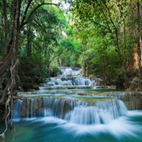 Erawan Waterfalls with private round-trip transfer from Kanchanaburi