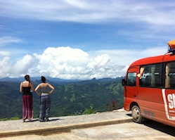 Joined transfer from Vientiane to Vang Vieng