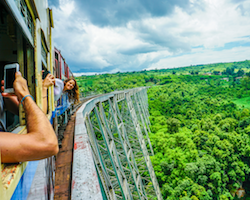 Full day private Gokteik train ride and transfer to Mandalay