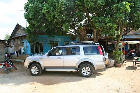Private transfer from Kratie to Stung Treng/ Dong Kralor, Kompong Thom or Phnom Phen