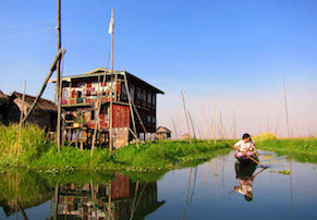 Private Boat Nyaung Shwe jetty to Hotel on Inle Lake