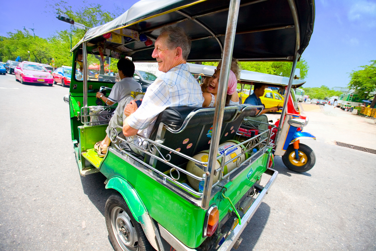 Man in Tuk Tuk