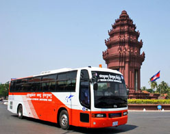 Mekong Express Bus from Kampong Thom to Siem Reap – Joined